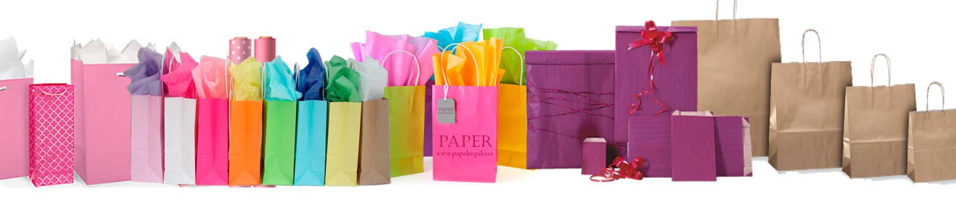 Papel de regalo y bolsas