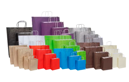 bolsas de colores asa plana